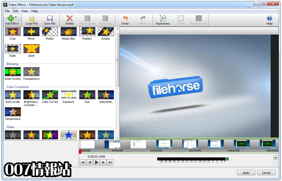 VideoPad Video Editor Screenshot 2
