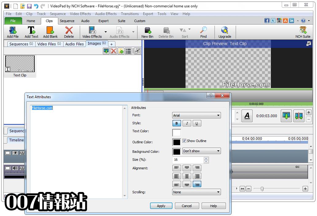 VideoPad Video Editor Screenshot 3