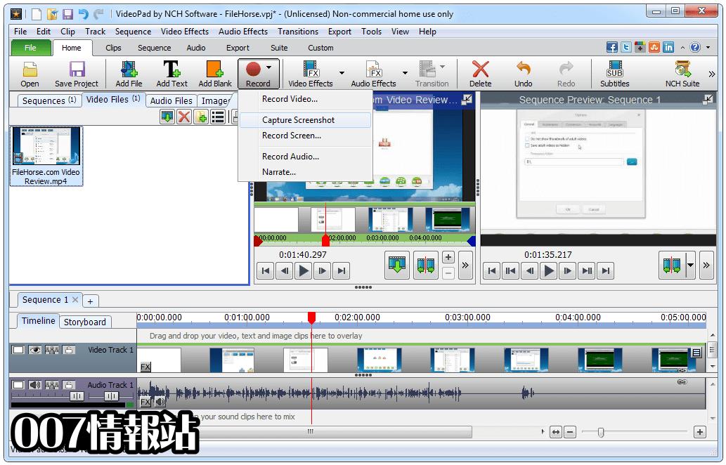 VideoPad Video Editor Screenshot 4