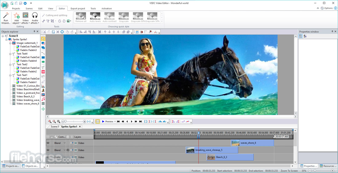 VSDC Free Video Editor (32-bit) Screenshot 1