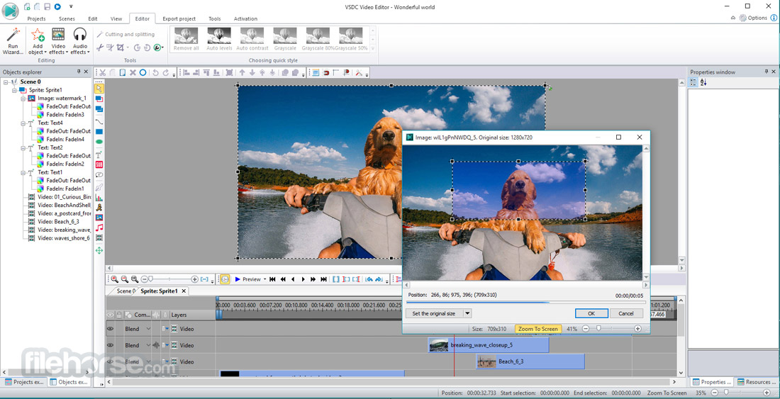 VSDC Free Video Editor (32-bit) Screenshot 5