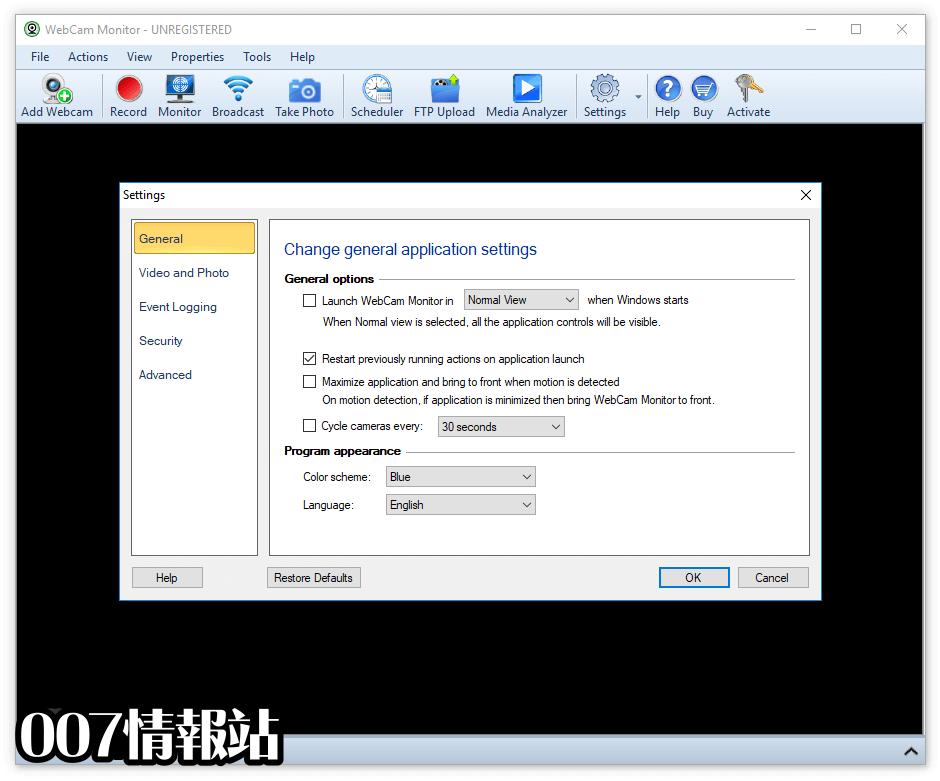 WebCam Monitor Screenshot 4